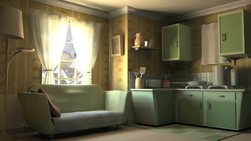 3D render of a room